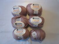 Lot of 6 Skeins of Schachenmayr Nomotta Ascot Cotton Blend Yarn. Soft Lavender.