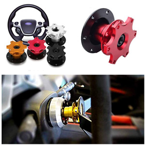 Universal Performance Racing Car Steering Wheel Quick Release Hub Adapter Red