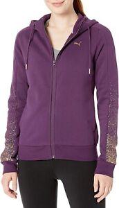 NWT PUMA Women's Metallic Holiday Pack Full Zip Hoodie Size M Purple