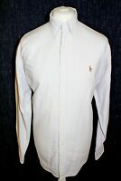 RALPH LAUREN Blake Mens White & Purple Strips Long Sleeved Shirt Size Large