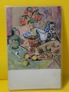 Vintage Postcard German painting