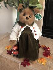 Bearington Bears Piper & Pumpkin #1529 2005 14� Plush �w/🎃 Fall/Halloween Mwt