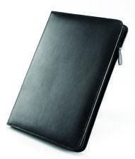 Falcon A4 Leather Conference Folder with Calculator - Black FI6512