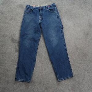 Ecko Unlimited Baggy Fit Carpenter Jeans Men's Sz 34x32 Distressed