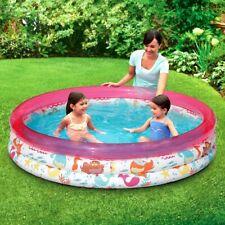 3-Ring Inflatable Pink Ocean Play Kids Toddler Swimming Pool Outdoor Swim Center