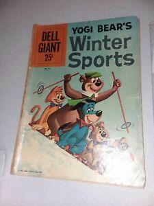 YOGI BEAR'S WINTER SPORTS #41 DELL GIANT 1960 silver age cartoon comics the
