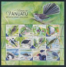 2012 VANUATU BIRDS DEFINITIVES SHEETLET FINE MINT MNH/MUH