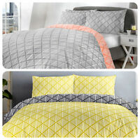 Fusion BROOKLYN Modern Geometric Easy Care Duvet Cover Set
