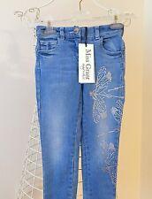 RRP £110 MISS GRANT Blue Denim Diamante Jeans @monnalisa