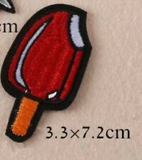 10pcs Popsicle Iron-On Embroidered patches for clothes sew appliques DIY