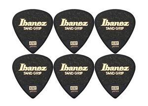 Super Ibanez PA16HSG-BK Grip Wizard 6er Plektren Set Picks für Bühne und Studio