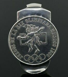 Olympic 25 Pesos Mexican Silver Coin Money Clip