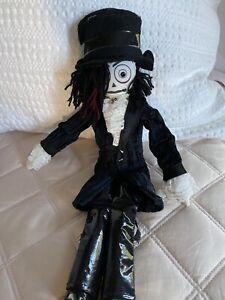 """Hot Topic Top Hat Ruffle Shirt Vampire Goth Plush Doll 15"""""""