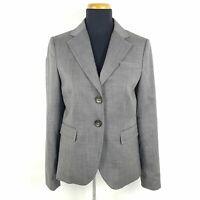 Marc O'Polo Blazer Damen Gr. 36 Grau Schurwolle Stretch Business Jacke