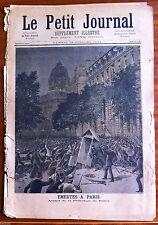 Le petit Journal 15/07/1893; Emeutes à Paris, Assaut de la préfecture de Police