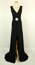 New Jovani 3394 Black Sleeveless Evening Prom Formal Women Gown Dress 4