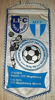 Orig. Wimpel 1.FC Magdeburg Malmö FF 1975 EC Cup DDR Sverige vimpel pennant FCM
