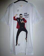 Jungen Mädchen H&M PSY Gangnam Style kurzarm Shirt weiß Baumwolle Gr. 170 - NEU