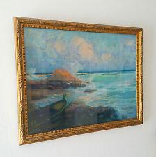 Barque & Crique, Pastel, Louis Fortuney (1875-1951)