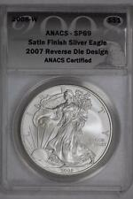 2008 W Reverse of 2007 Silver American Eagle SP69 ANACS United States Mint Coin
