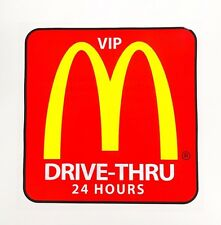 MCDONALDS VIP Drive Thru Car Pass Sticker Decal McD Malaysia 2017