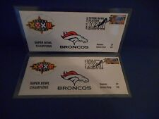 Super Bowl XXXII Denver Broncos 1998 Commemorative USPS Envelopes Set of 2