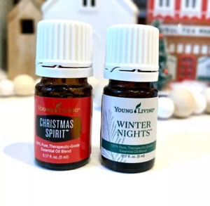 YOUNG LIVING * Winter Nights & Christmas Spirit* ESSENTIAL OIL NEW SEALED 5ml
