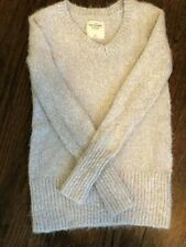 Women's Abercrombie and Fitch Ribbed Knit Turtleneck Sweater Size XS Cream Color