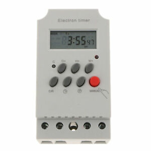 12V DC AC Digital Weekly Programmable Power Timer Time Relay Switch