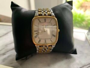 Mens Longines Watch- used- silver and gold
