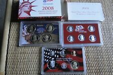 2008-S United States Mint Silver Proof Set, 14 Coin - Original Box with COA