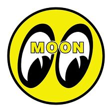 4 inch MOON Decal VW Rat Rod DRAG RACING Logo NHRA Buggy Bug Vintage Sticker