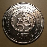 Vancouver BC 1976 UN Conference on Human Settlements Habitat Trade Dollar!!!
