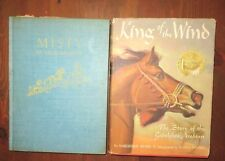 Lot 2 Marguerite Henry Books Misty of Chincoteague 1959 King the Wind 1962 - B8D