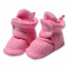 NEW Zutano Fleece Baby Booties 12M Pink Stay-On Baby Socks Free Shipping