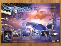 Homeworld PC 1999 Vintage Video Game Print Ad/Poster Art Official Big Box Promo