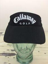 CALLAWAY GOLF VISOR - Adjustable Black Golf Hat Cap - MUST SEE!
