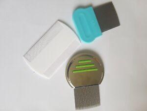 Head Hair Lice  Fine Tooth Grooming Comb Terminator Nit Pet Flea - Set of 3