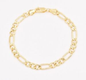 6mm Royal Figaro Link Bracelet Real Genuine 10K Yellow Gold ALL SIZES