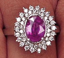 2.05 Carat 14KT White Gold Natural Pink Tourmaline EGL Certified Diamond Ring