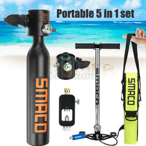 Smaco 500ML Mini Scuba Diving Spare Oxygen Cylinder Tank Set Black AU