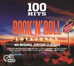 100 Hits Rock 'N' Roll Love Songs 5-CD NEW SEALED Buddy Holly/Gene Vincent/Heinz