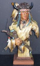 "BUFFALO CHIEF  Native American Indian with Buffalo Headdress   H13.5"""