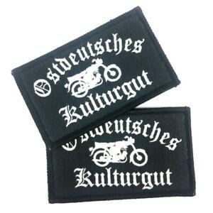 2 x Aufnäher Ost Deutschland Osten Simson Kulturgut Patch Flicken Emblem Zeichen