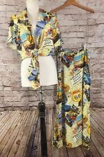 Double D Ranch Skirt Tie Top Set Route 66 Road Map Print Texas Western Medium M