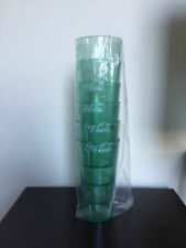 New (6) Coke Coca Cola Restaurant Green Plastic Tumblers Cups 20 oz Carlisle