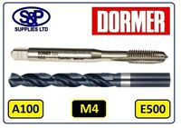 M4 TAP COMPLETE WITH 3.3MM JOBBER DRILL A100 / E500 TAPPING SET GENUINE DORMER
