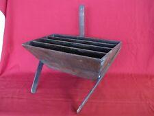 AAFA True Antique Primitive Oak Wood Basket Magazine Book Newspaper Rack Stand