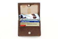 Tony Perotti Business and Credit Card Case Wallet with ID Window in Brown