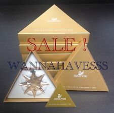 Sale Swarovski set 5x 2009 large Scs golden shadow annual snowflake ornament New
